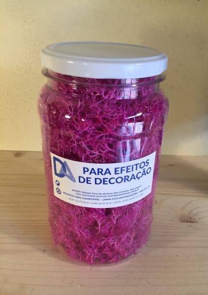 Musgo Rosa em Frasco