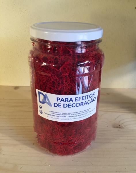 Musgo Vermelho em Frasco